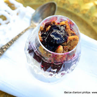 ~blueberry & Rhubarb Compote & Crumbles~.
