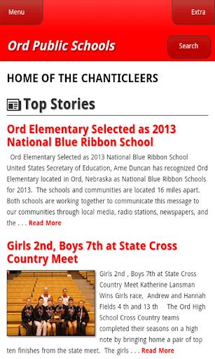 Ord Public Schools Website