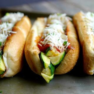 Zucchini-Marinara Dogs.