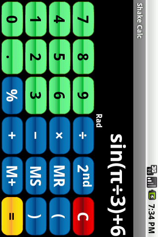 Shake Calc - Calculator - screenshot