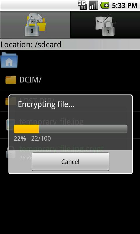 Keep Secrets (Encrypter)- screenshot