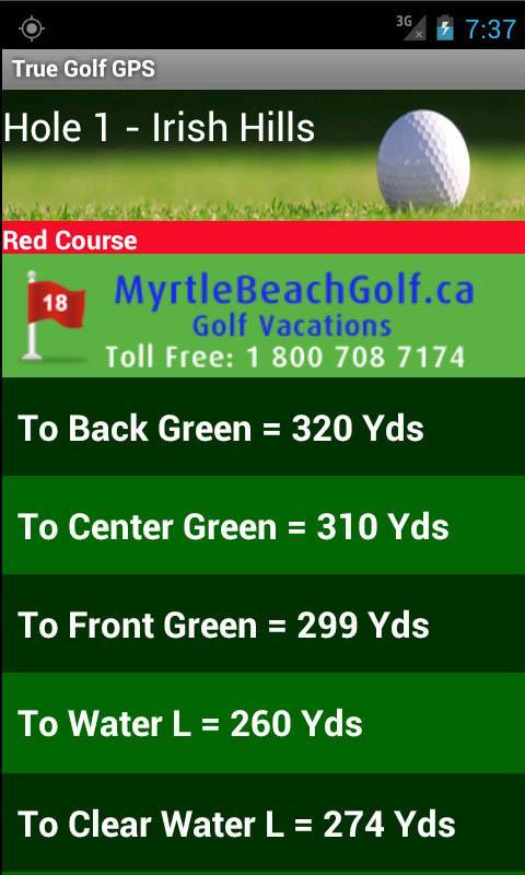 True Golf GPS- screenshot