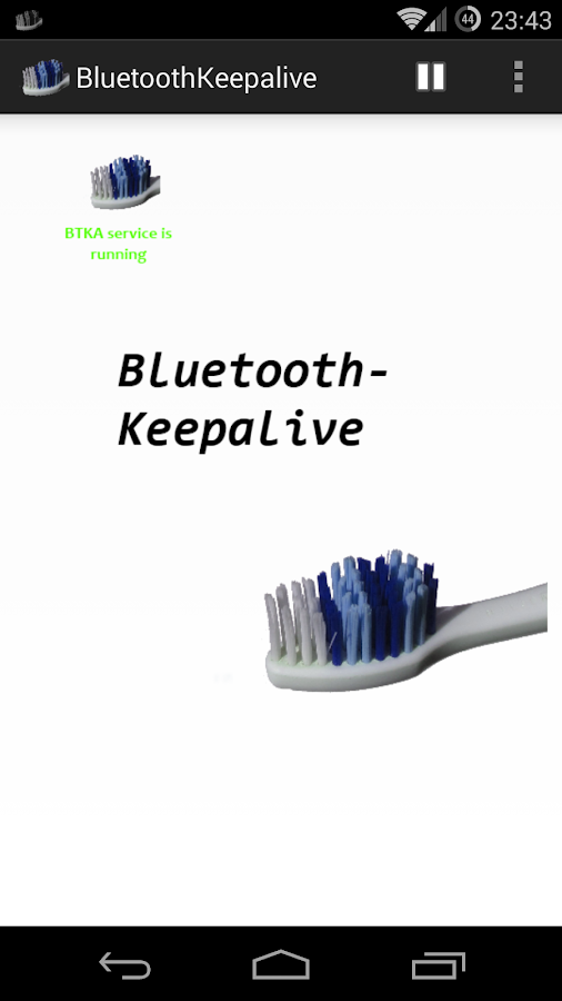 Bluetooth Keepalive- screenshot