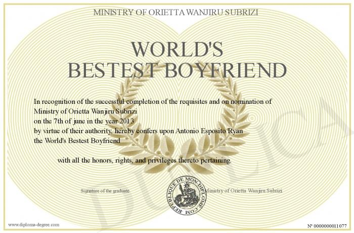 My certificate - screenshot