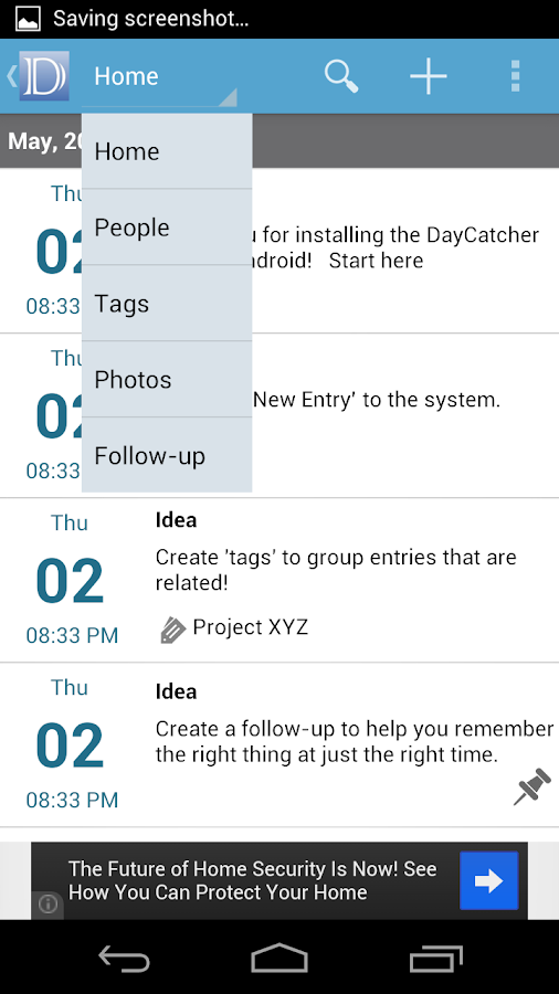 DayCatcher Journal - screenshot