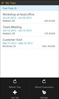 Screenshot of SAP Travel Expense Report
