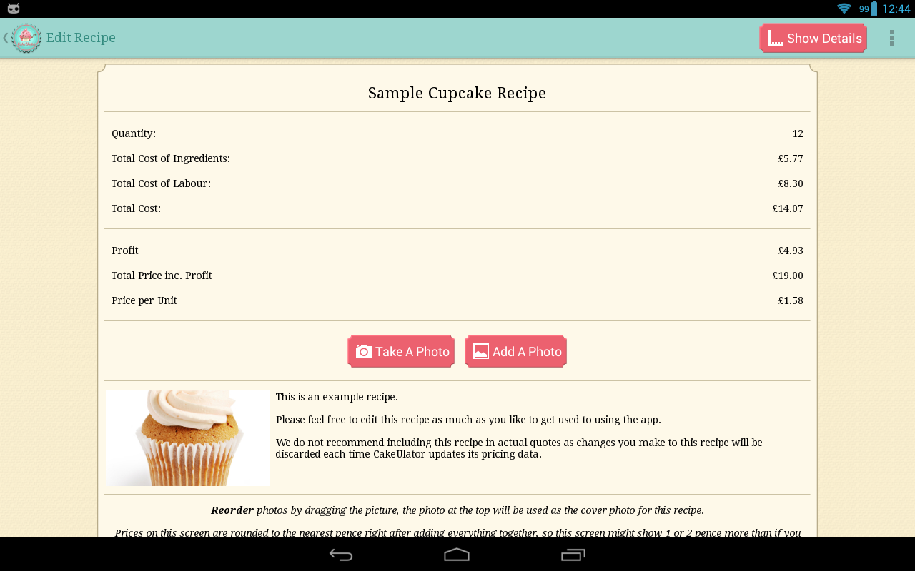 CakeULator+- screenshot