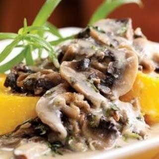 Polenta with Creamy Mushroom Sauce
