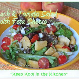 Peach &Tomato Salad With Feta Cheese