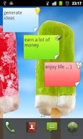 Screenshot of BJ Memo Widget