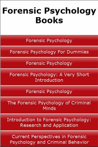 Forensic Psychology Books