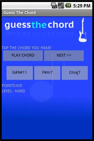 Guess the chord! - Quiz - screenshot