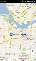 Screenshot of LiveTransit Vancouver