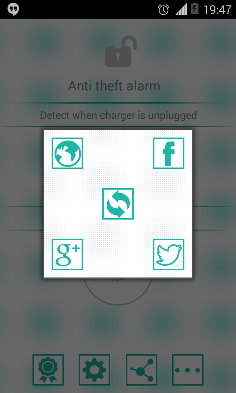 Anti theft alarm - screenshot