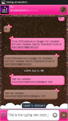 GO SMS - Cherry Hearts