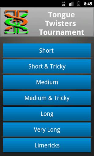 Tongue Twisters Tournament