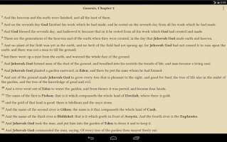 Screenshot of Bible BBE: Bible English