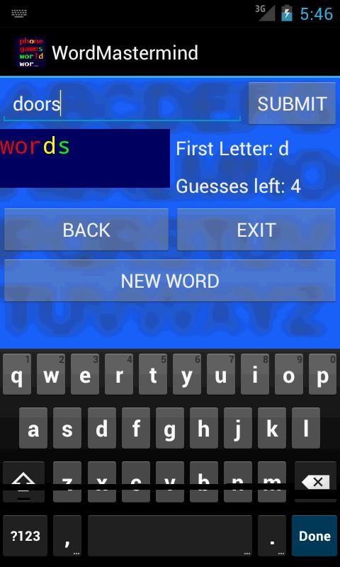 Word Mastermind - Free- screenshot