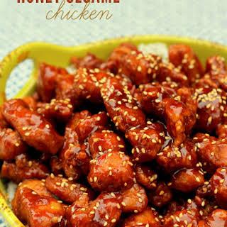 Honey Sesame Seed Chicken.