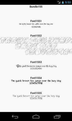 Fonts for FlipFont 155