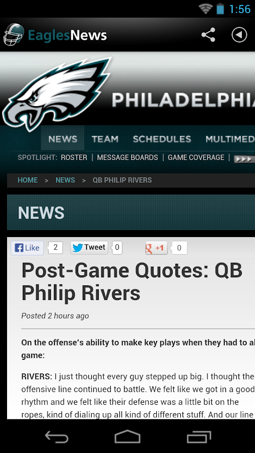 Eagles News - screenshot