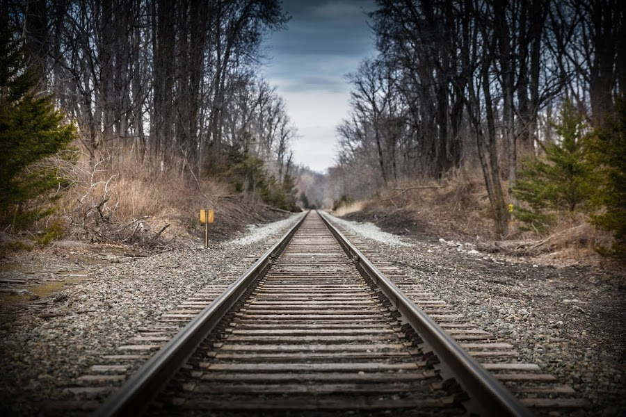On the Path by Justin Chauncey - Transportation Railway Tracks