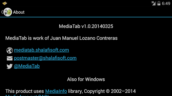 MediaTab- screenshot thumbnail