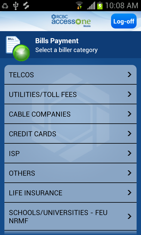 RCBC AccessOne-Mobile - screenshot