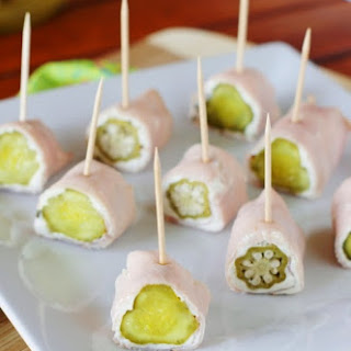 Ham & Pickle Bites {with Baby Dill Pickles or Okra}.