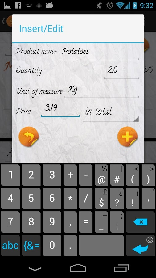 Easy Shopping List PRO - screenshot
