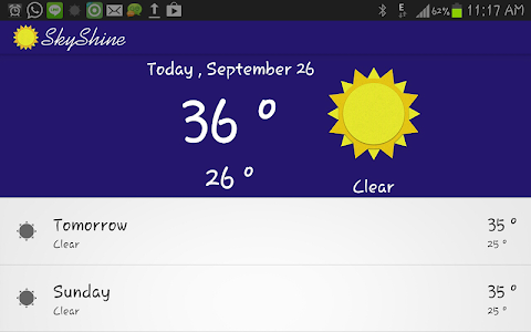 SkyShine-Weather Forecasting screenshot 0