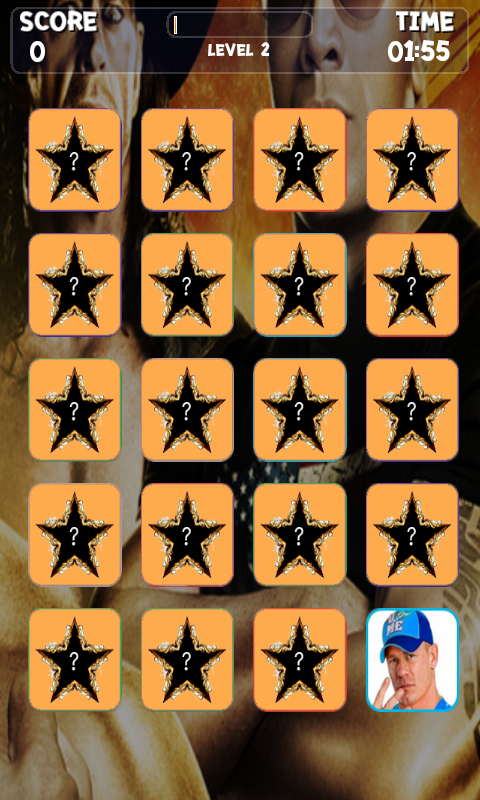 Wrestling Stars Memory Game - screenshot