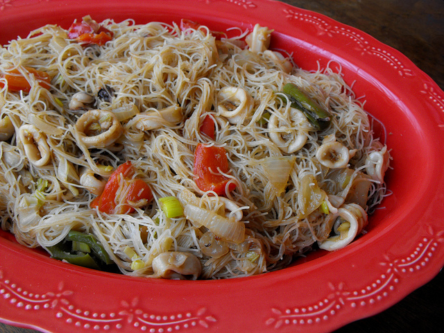 Rice Noodle and Squid Pasta Recipe