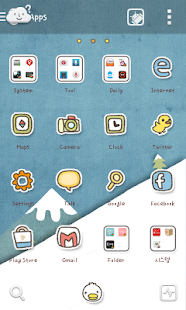 Duck ski go launcher theme - screenshot thumbnail