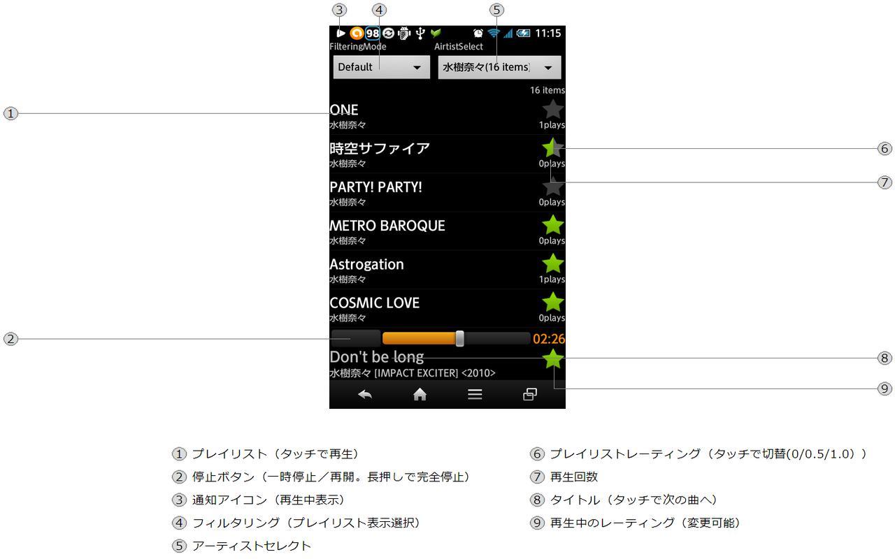Linear Audio Player- screenshot