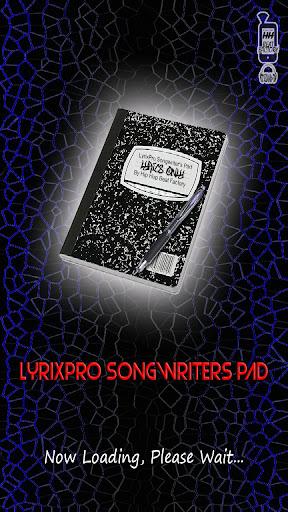 LyrixPro Songwriter's Pad