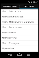 Screenshot of Linear Algebra