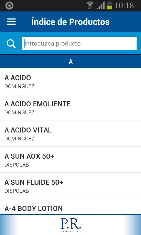 PR Vademécum Argentina - screenshot