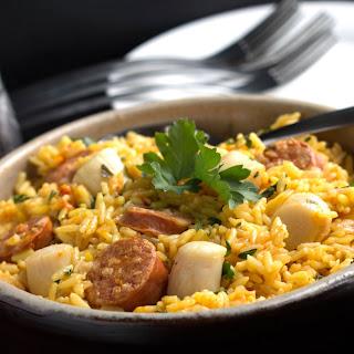 Easy Scallops & Chorizo Paella Recipe