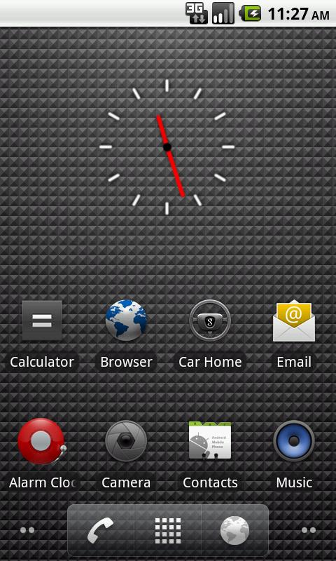 Transparent Clock - screenshot