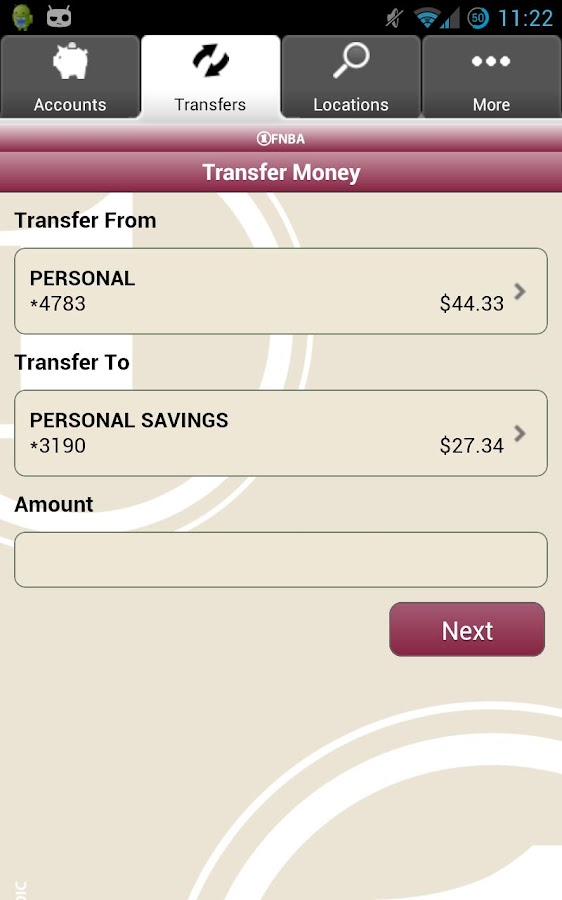 FNBA Mobile Banking - screenshot