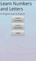 Screenshot of French/English Numbers/Letters