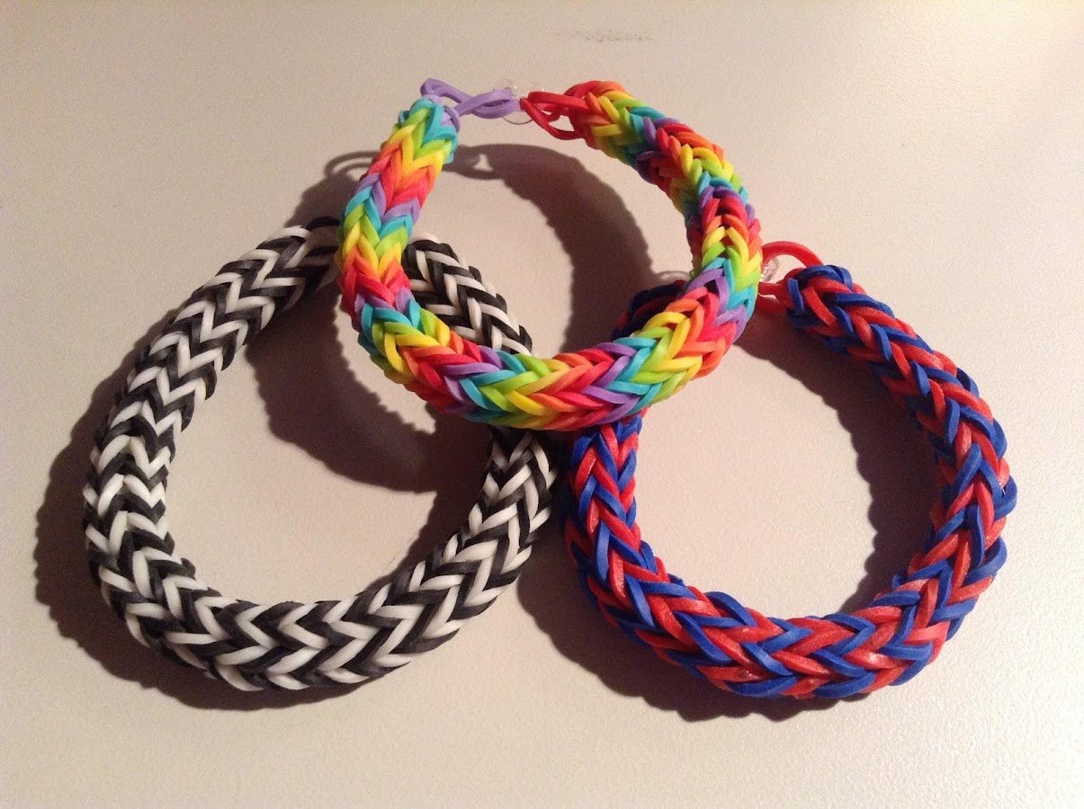 Fishtail Rainbow Loom Bracelet - screenshot