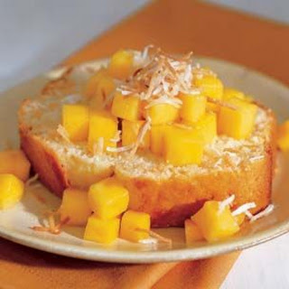 Coconut Cake with Mango