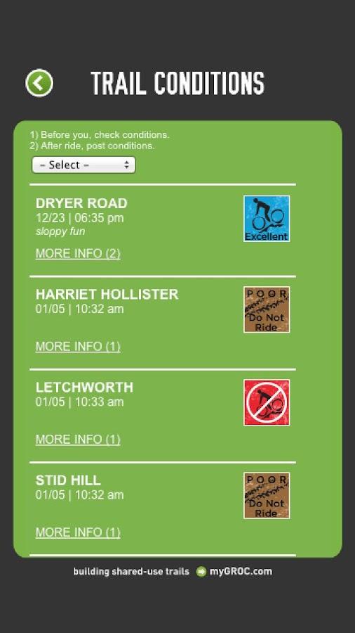 GROC Mobile Trail Maps 2.0 - screenshot
