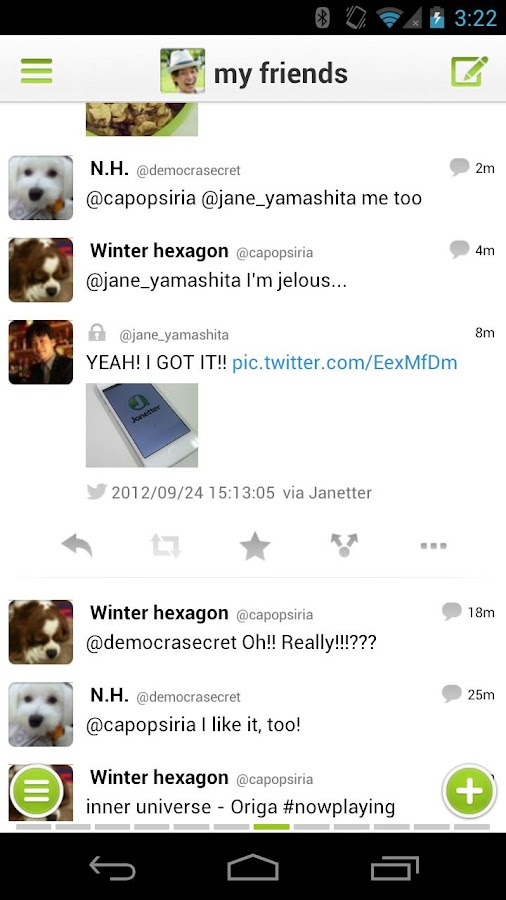 Janetter Pro for Twitter- screenshot