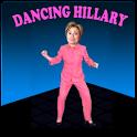 Dancing Hillary logo