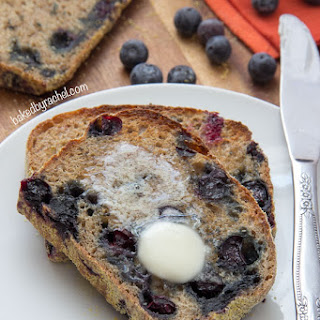 Banana Blueberry English Muffin Bread