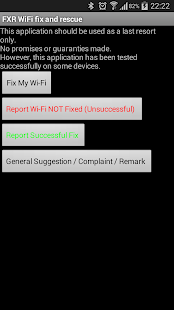 FXR WiFi fix and rescue- screenshot thumbnail
