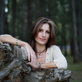 Mandi in the forest by Adele Kimble - People Portraits of Women